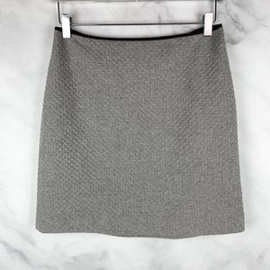 J. Crew Wool Cashmere Quilted High-Rise Mini Skirt